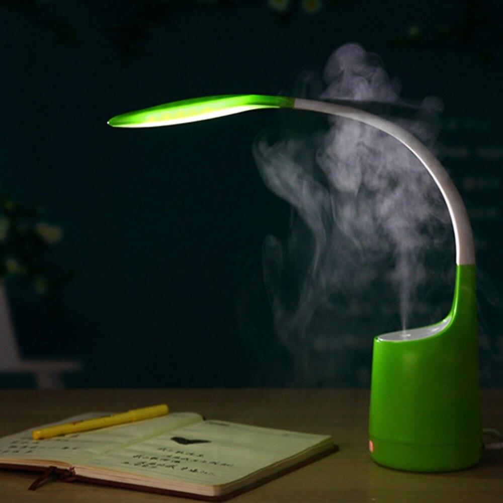 Мини светодиодный чтения бюро свет 160 мл увлажнитель зарядка через usb Silent дома Воздухоочистители 3-Класс затемнения Уход за глазами настольн...