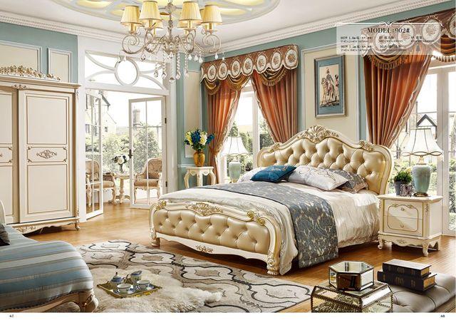 European royal bianco in legno massello intagliato a mano stile ...