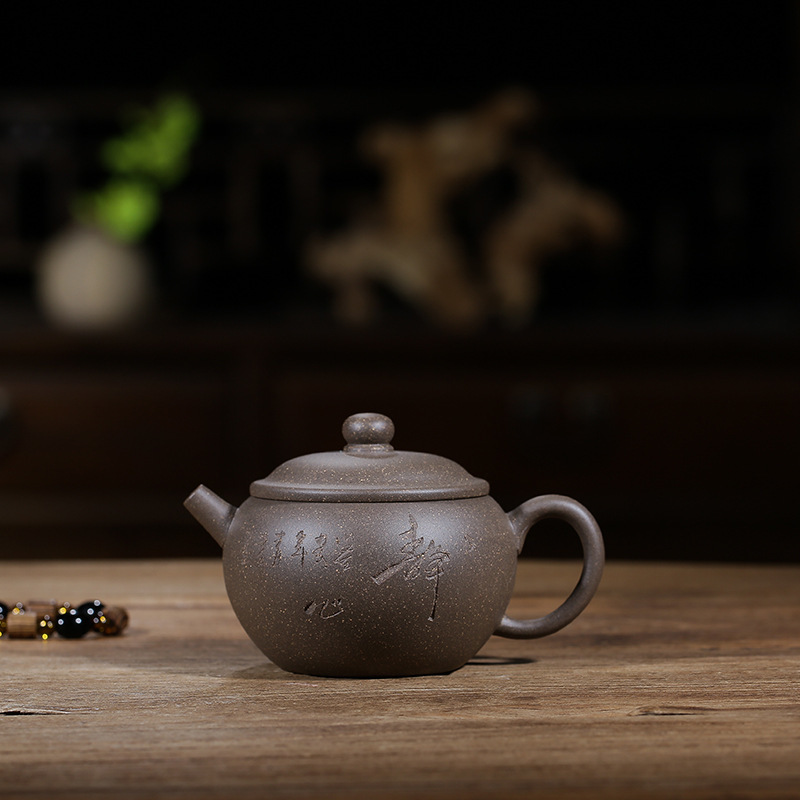 Yixing Pottery Teapot Wholesale Raw Ore Grey Lime Clay Jade Pot Quality Goods Yixing Manual Teapot Kung Fu Tea Have Ball HoleYixing Pottery Teapot Wholesale Raw Ore Grey Lime Clay Jade Pot Quality Goods Yixing Manual Teapot Kung Fu Tea Have Ball Hole