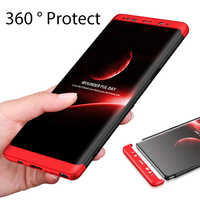 Full Cover 360 Protection Case For Samsung Galaxy S9 S8 S8+ S9+ / S8 Plus Note 8 Note 9 Back Shockproof Case For Samsung S8 Plus