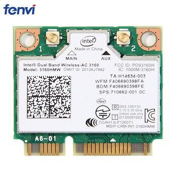 Doble banda 433 Mbps inalámbrico de mitad de semestre Mini PCI-E tarjeta Wifi 3160HMW para Intel AC 3160 tarjeta Wi-Fi Bluetooth 4,0 802.11ac para el ordenador portátil