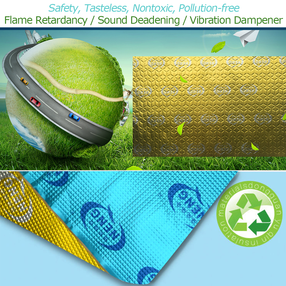 78.74 mil 4.3 sqft Butyl Sound Deadener Mat Self-adhesive Automotive Heat Insulation And Dampening Noise Deadening