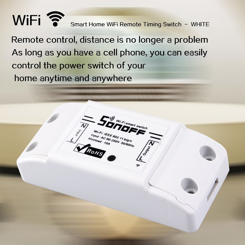 High Quality Sonoff SmSonoff Smart Home Remote Control Wireless Wifi Switch Wall Timer Switch Smartphone Remote Controller CM116 sonoff wireless wifi switch universal smart home automation module timer diy wifi remote control switch on off wireless timer