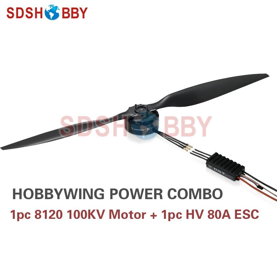 Hobbywing XRotor FOC Power System Combo Brushless 8120 100KV Motor & HV 80A FOC V3 ESC for Agricultural Drones