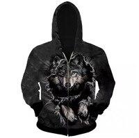 2017 Hoodie Men Cardigan Lightning 3D Printing Hip Hop Sweatshirts Men Brand Hoodies Winter Sportswear Male