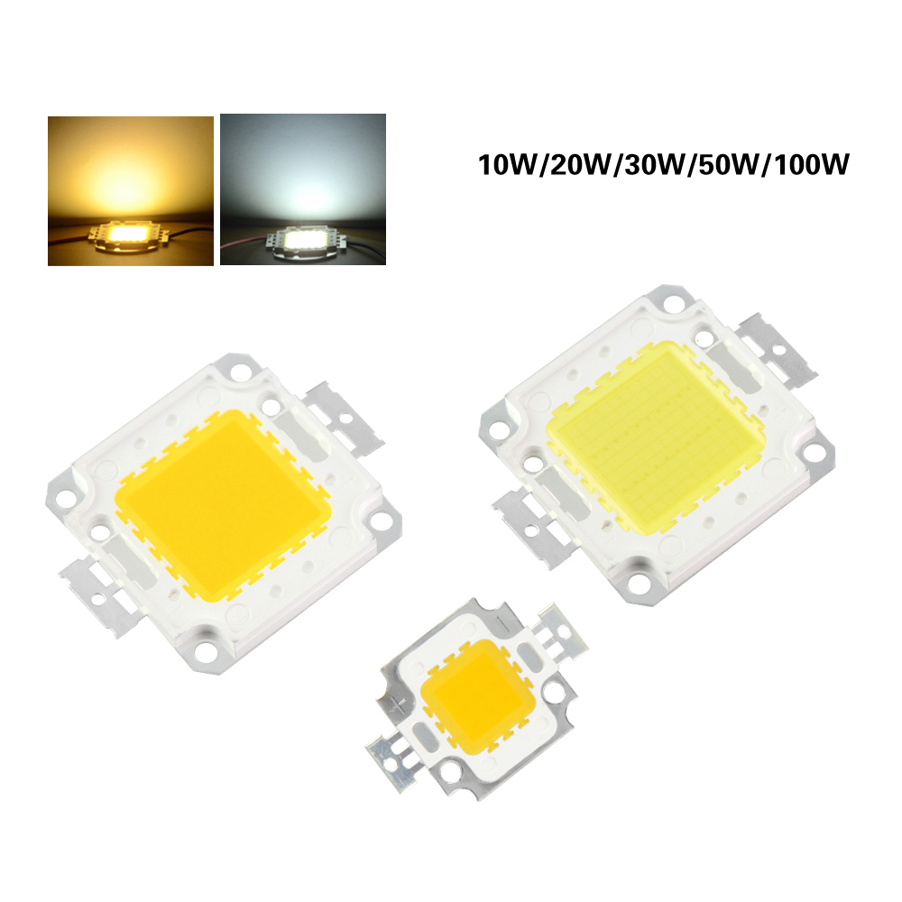 10Pcs/lot High Power LED Lamp Chip 10W 20W 30W 50W 100W SMD LED Lamp COB White / Warm White for Floodlight Spotlight high quality 730nm 740nm ir led chip 10w 20w 30w 50w 100w led lamp epileds led chip for detecting sensor laser flashlight