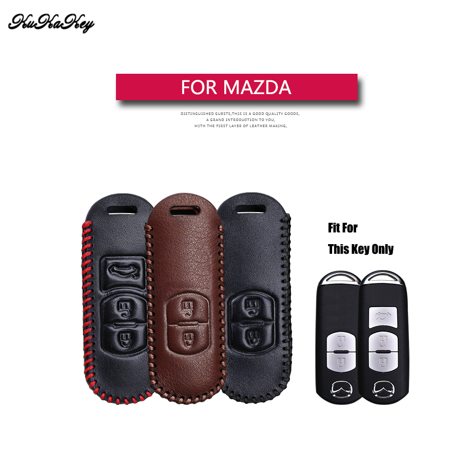 Leather Car Key Case Cover For Mazda 2 3 5 6 8 CX5 CX7 CX9 GT M3 M5 M6 M8 Atenza Axela Protection Key Shell Skin Bag Only Case