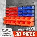 Wand-Montiert Teile box hardware Schraube klassifizierung Komponenten Lagerung box Garage Einheit Regale Veranstalter Kunststoff toolbox