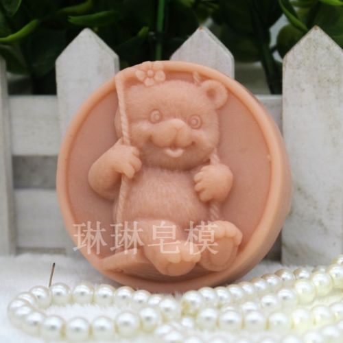Soap Mold Silicone Craft Bear Soap Making Mould Candle DIY Handmade Mold