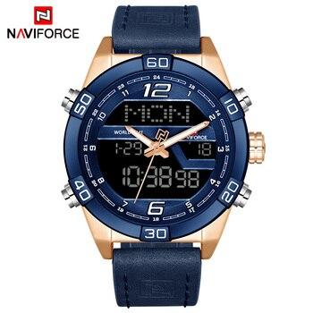8ad7f76bc007 Marca de lujo NAVIFORCE relojes deportivos de moda para hombre ...