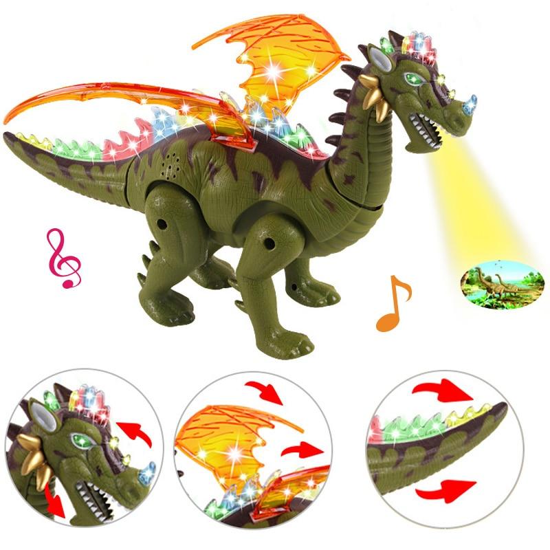 eletronica piscando dinossauro do jurassico frescos animais projecao brinquedos sounding piscando adoravel eletronicos brinquedos para presente