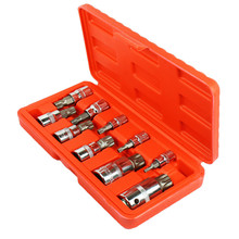 HUAFENG BIG ARROW 10PC XZN Triple Square Spline Bit Socket Set  1/4-Inch, 3/8-Inch and 1/2-Inch Drive  4MM-18MM kseibi 142032 sheet metal aviation snip cutter set 10 inch length 1 3 8 inch cutting capacity straight left and right 3 pack