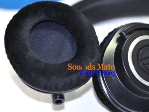 e7bbecf6b3b Velour Cushion For Audio Technica ATH M40 M50 M40X M50X M30 M35 SX1 M50S Dj  Headphone