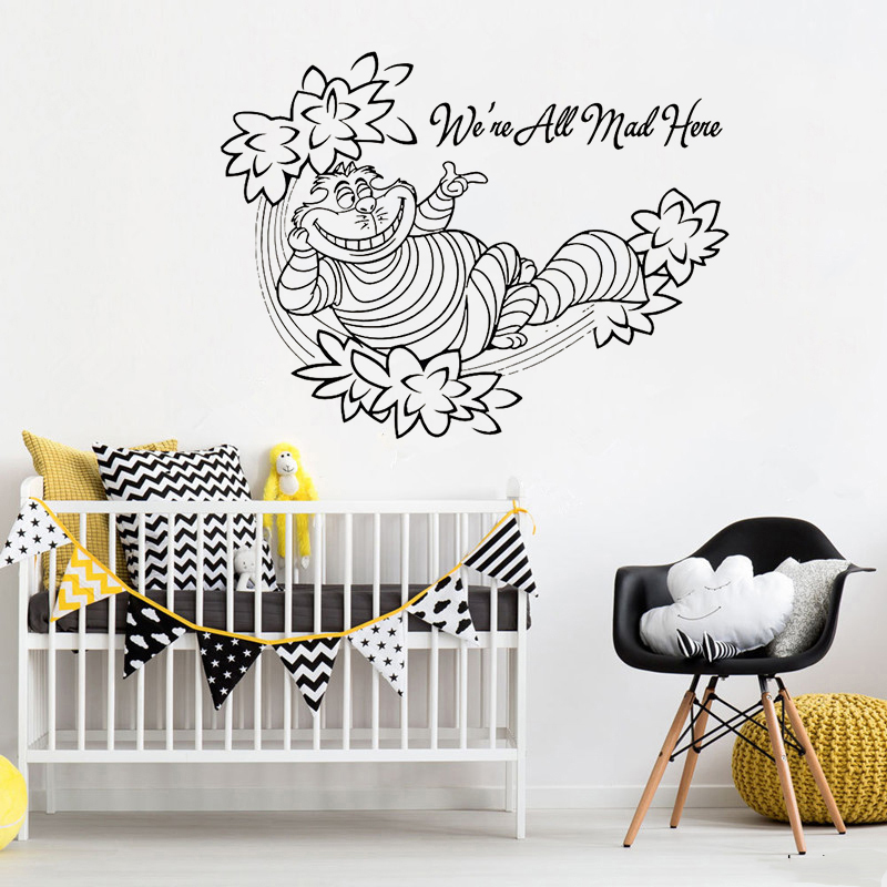 Cartoon, Wall, Removable, Bedroom, Mural, Kids