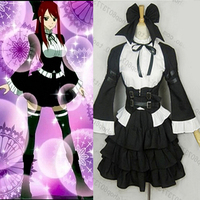 Happy Fairy Tail Cosplay Erza Scarlet Witch Halloween Lolita Housemaid Costume For Women