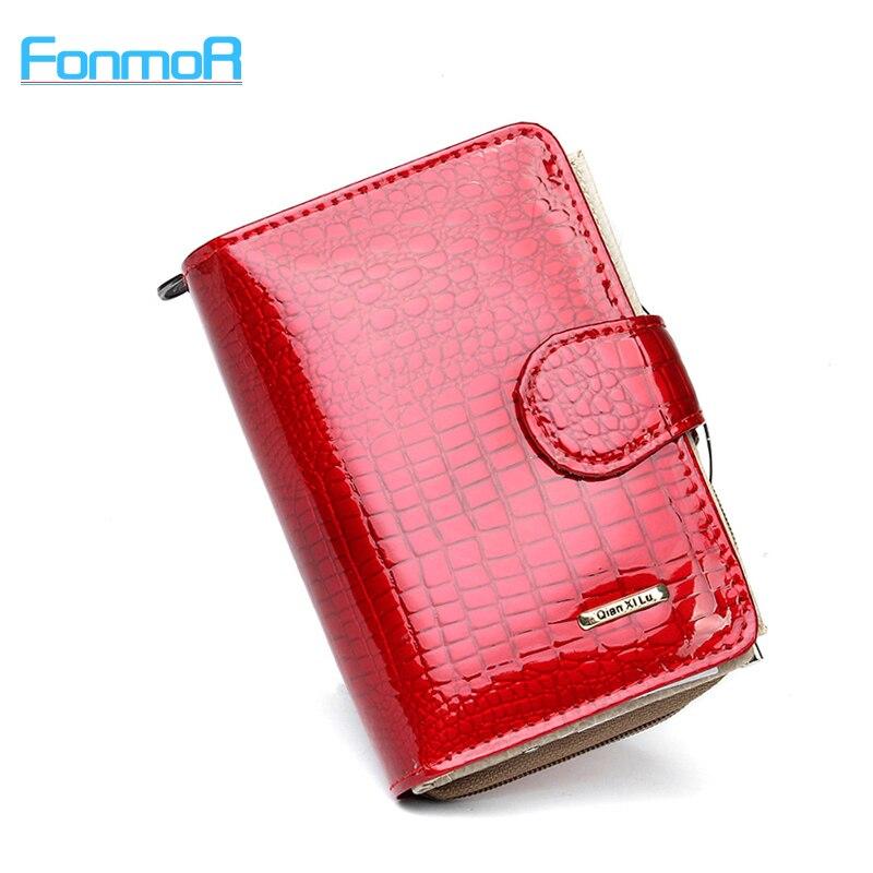 New pattern Genuine leather women's short design wallet fashion classic crocodile pattern purse female  Wallets Cowhide 3 Colors