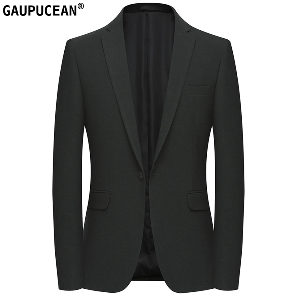 Easy Care Anti shrink Slim Man Suit Jacket Quality Fashion Male Formal Business Spring Single Breasted Black Men Blazer-in Blazers from Men's Clothing    1