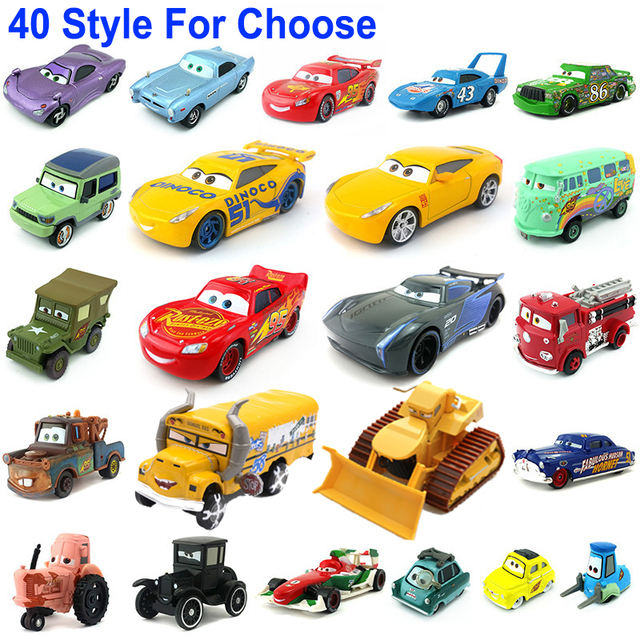 1:55 Disney Pixar Cars 3 2 Metal Diecast Car Toy Lightning McQueen Jackson Storm Combine Harvester Bulldozer Kids Toy Car Gift 1