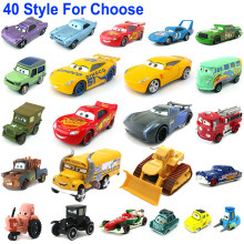 1:55 disney pixar carros 3 2 metal diecast carro brinquedo relâmpago mcqueen jackson tempestade combinar escavadeira crianças brinquedo carro presente