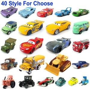 Image 1 - 1:55 Disney Pixar Cars 3 2 Metal Diecast Car Toy Lightning McQueen Jackson Storm Combine Harvester Bulldozer Kids Toy Car Gift