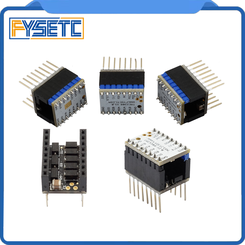1set TMC2100 V1.3 TMC2130 TMC2208 Silent Excellent Stability Stepper Motor StepStick Mute Driver with Protector Motor Driver