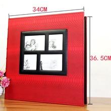 가죽 오버 플라스틱 6 인치 4R / 4D 600 포켓 사진 앨범 아름다운 추억
