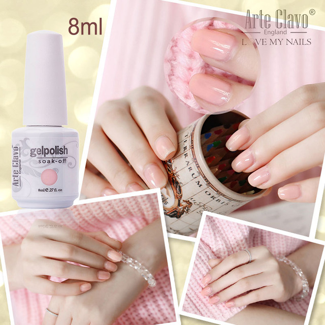 Nail Gel 8ml Arte Clavo 1 Color Luxury Nail Art Gel Polish Soak Off ...