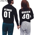 Long Sleeve T-Shirt Slim Letter Printing Couple Tops American Apparel Couple Clothes Camisetas Mujer #2831