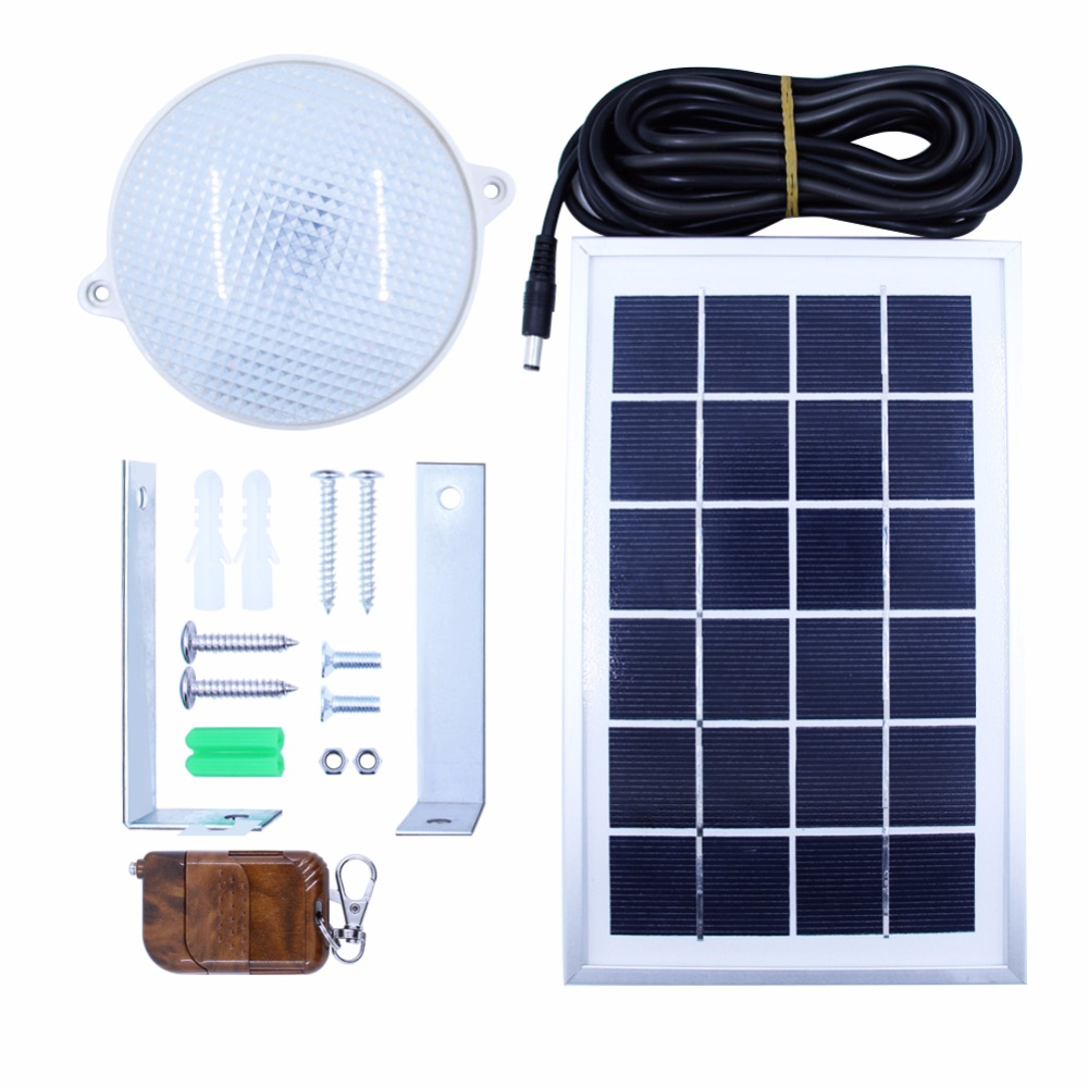 8W 18 LED Super Bright Waterproof Solar Ceiling Lamp with 5m Cable Optional Remote Control LED Outdoor Lighting Garden Home NEW super bright led home garden light solar outdoor lighting lamp energy saving waterproof lamp