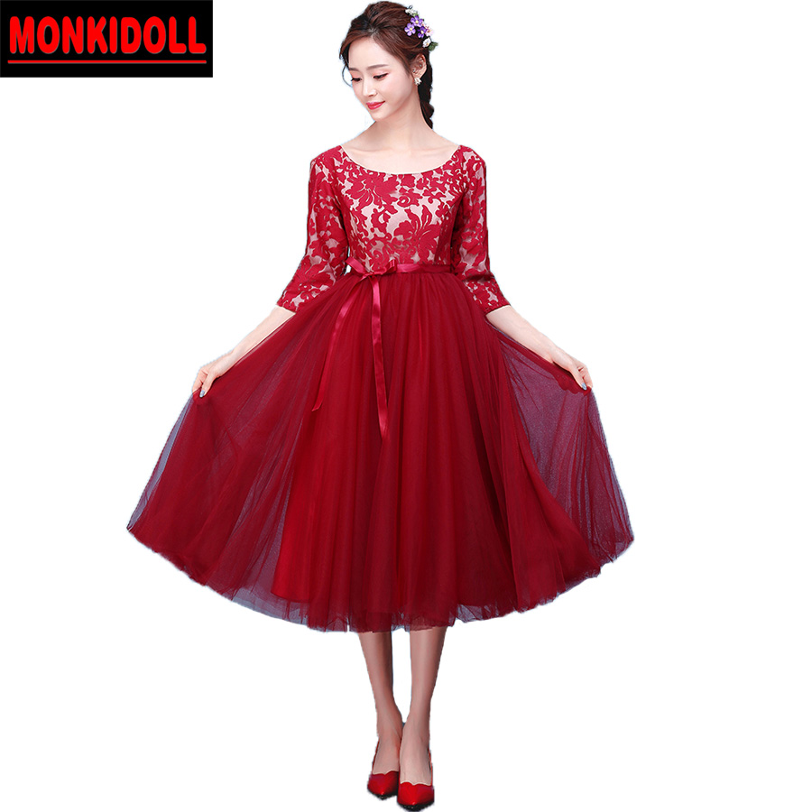 Maternity prom dresses tea length pregnant prom dress with sleeves maternity prom dresses tea length pregnant prom dress with sleeves lace sash evening party gowns 2017 cheap semi formal dresses in prom dresses from ombrellifo Choice Image