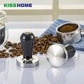 304 Arcuated/Плоская основа из нержавеющей стали алюминиевый сплав ручка тампер кофе порошок молоток 58 мм индивидуальные аксессуары для кофе