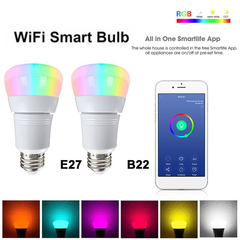 Smart Light Bulbs App Remote Control Led Color Changing