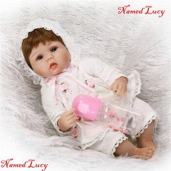 Bebe doll reborn NPK 40CM cute princess girl doll silicone reborn baby dolls child new year gift birthday present