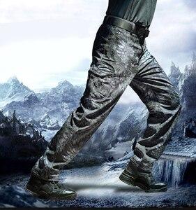 Image 3 - MEGE רך פגז טקטי הסוואה מכנסיים גברים עמיד למים Combat צבאי מטען חם צמר Camo חורף חם צבא Modis מכנסיים