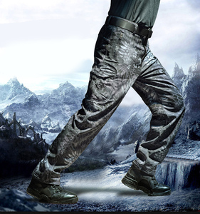 Image 3 - MEGE Soft Shell Tactical Camouflage Pants Men Combat Waterproof Military Cargo Warm Fleece Camo Winter Warm Army Modis Trousers