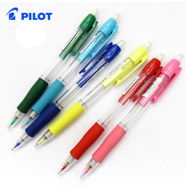 Pilot Mechanical Pencil School Stationery Pencils Office Supplies Colored Body With Eraser Telescopic Nib 0 5