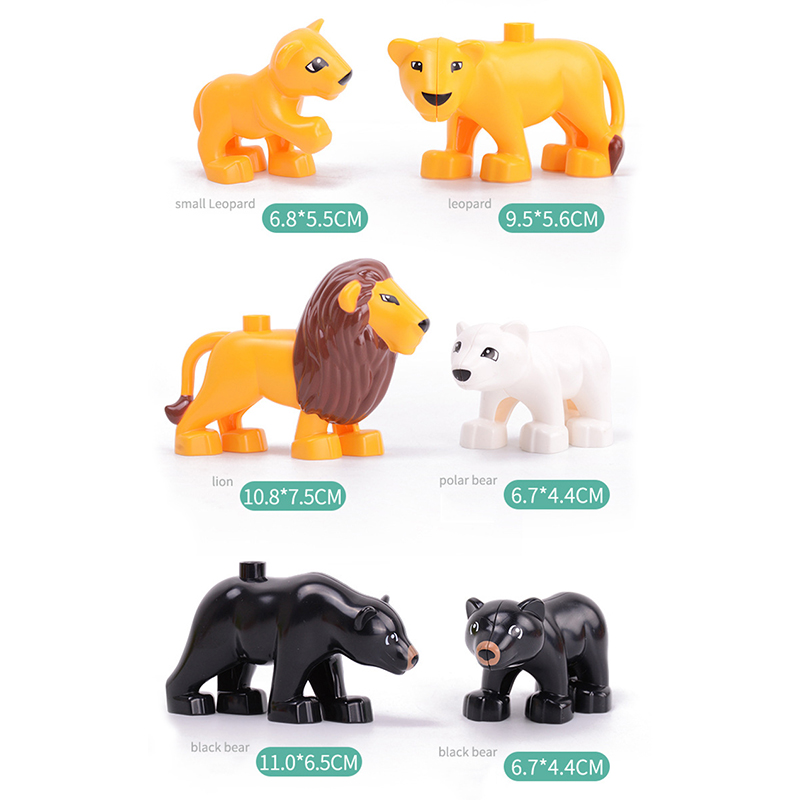 5Pcs-50pcs DIY Big Size Farm Dinosaur Animal Series Building Blocks Sets Bricks Compatible with Duploe Toys  for children  (18)