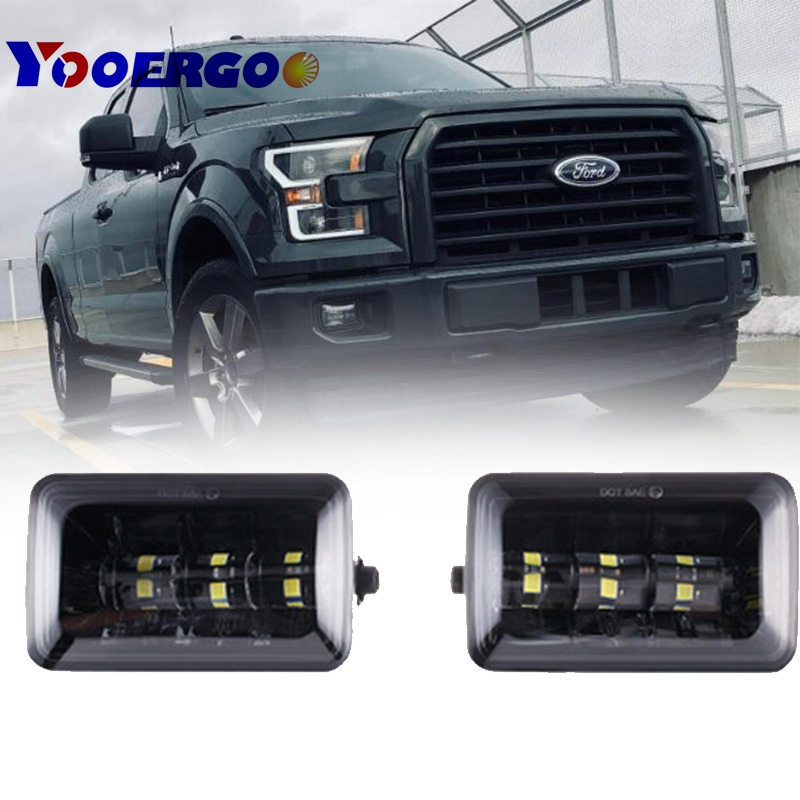 pair fog lights 4.5inch Car Fog lamp Type High Power LED Fog Lamps For Ford 2015 2016 2017 For Ford F150 LED Fog Lights Direct 2x for renault megane 2 saloon lm0 lm1 2003 2015 car styling ccc high power led fog lamps halogen lights