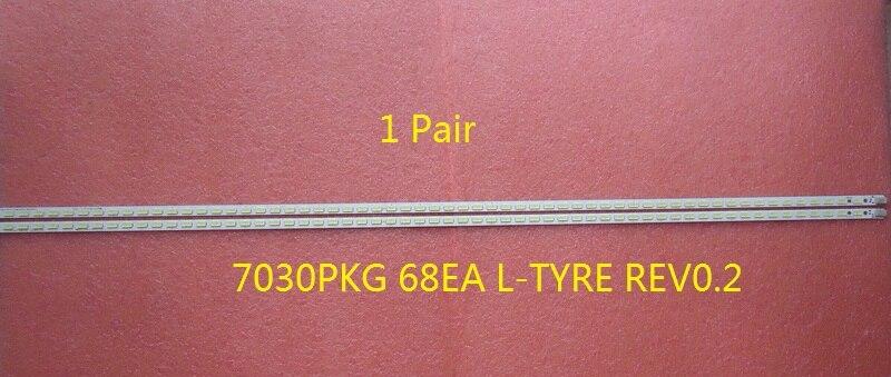 1 Pair New 7030PKG 68EA L-TYRE REV0.2 676mm 68 LED For Sharp LCD-60LX640A LED TV Backlight Strip led телевизор sharp lcd 60lx850a 60 wifi 3d