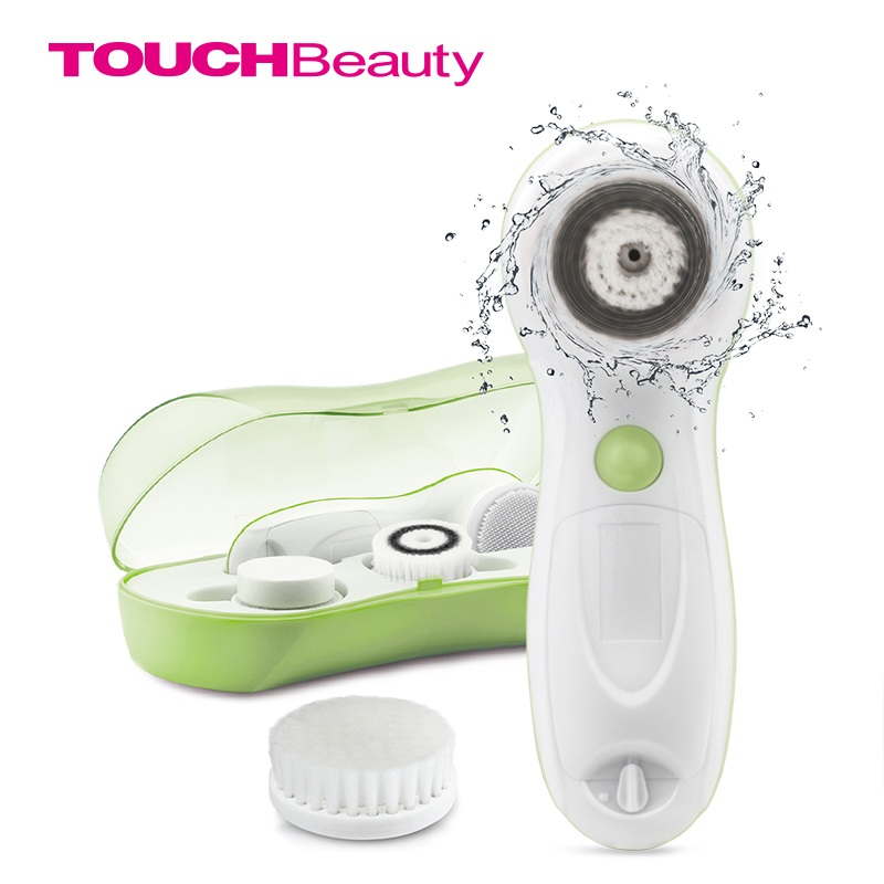 TOUCHBeauty 4 in 1 Facial cleansing Brush Set for Skin Cleaning and Exfoliating with 3 Different Cleansing Brush Head TB-07594AG touchbeauty 3 in1 rotating facial cleansing brush set with 3 replacement brush heads 2 speed settings with storage box tb 0759a