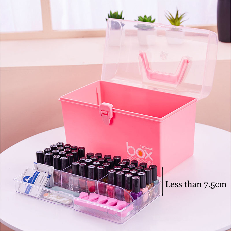 Organizer for Varnishes Nail Polish Storage Boxes Plastic Makeup Organizer Lipstick Holder Desktop Cosmetic Tools Container