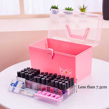 Organizer for Varnishes Nail Polish Storage Boxes Plastic Makeup Organizer Lipstick Holder Desktop Cosmetic Tools Container - DISCOUNT ITEM  51% OFF All Category