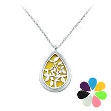 New Fashion Eau De Parfum Women Necklace Water Drop Pendant Stainless Steel locket Chain Perfume Essential Oil Diffuser Necklace