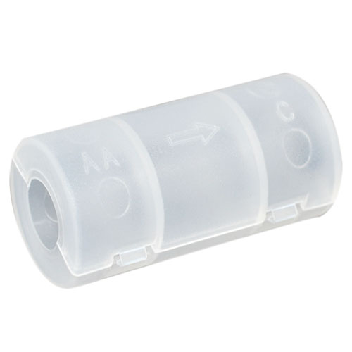 New From AA C Battery Converter Adapter Stylus For Torch