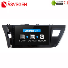 купить Asvegen Android 7.1 Octa Core Car Radio 2 din Car Stereo Multimedia DVD For Toyota COROLLA 2014-2016 PC head Unit GPS Navigation дешево