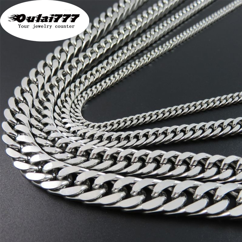 2019 stainless steel wholesalemen necklace jewelry gifts male friends hip hop necklaces women accessories long cuban link chain