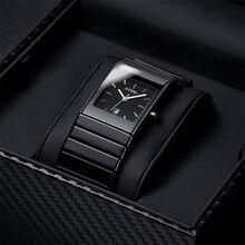 OUPAI классический черный Squire керамика календари Dat часы тритий свет мужские часы кварцевые e световой водонепроница…