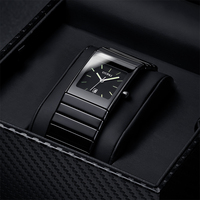 OUPAI Classic Black Squire Ceramic Calendar Dat Watch Tritium Light mens Watch Quartz e Luminous Waterproof Military Watches