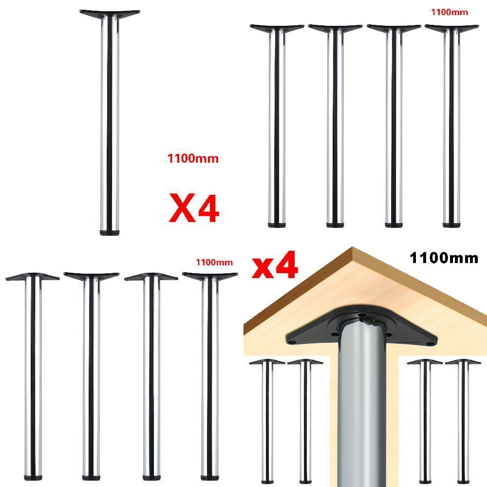 4 Pcs\set Chrome Adjustable Breakfast Bar Table Legs Kitchen 1100mm Bar Chair