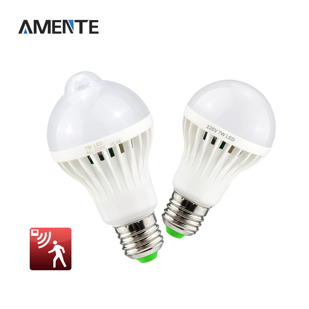 1pcs 220v 3w 5w 7w 12w sound voice sensor led bulb pir motion induction light smart lamp passway. Black Bedroom Furniture Sets. Home Design Ideas